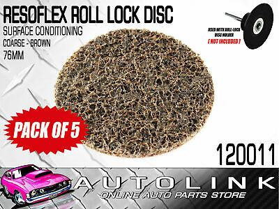 RESOFLEX 76mm ROLOC DISC ( COURSE BROWN ) GASKET CLEANER SURFACE CONDITIONING x5
