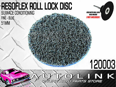 RESOFLEX 51mm ROLOC DISC FINE BLUE HEAD GASKET REMOVER SURFACE CONDITIONING x1