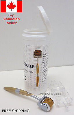 Gold Plated Derma roller (192 titanium needles) with FREE SHIPPING! Canada Only!