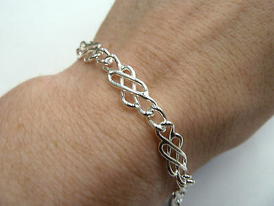 New Solid Sterling Silver.925 Ladies Celtic Bracelet 8.6 grams Fully Hallmarked*