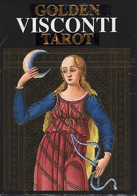 Golden Visconti Tarot (22 cards), new from Loscarabeo, brand new!