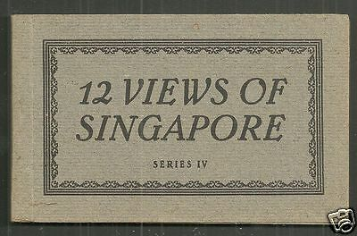 Singapore postcard Booklet Series IV Streets Rural life 1937