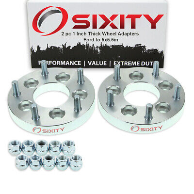 """2pc 5x4.5"""" to 5x5.5"""" Wheel Spacers Adapters 1"""" for Ford Aerostar Bronco II gq"""