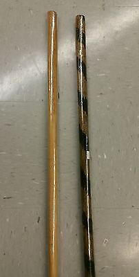 2 Bo Staffs Martial Arts Karate Burned Rattan and Tan Hardwood Bo Adult Youth