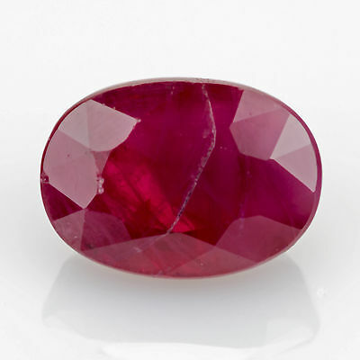 1.30 ct Ruby Oval cut 7.0x5.0mm I1 Natural loose red gemstone No Glass Filling