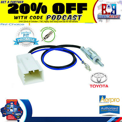 Aerpro Antenna Adapter To Suit Toyota Hilux 8th Generation 2012 On