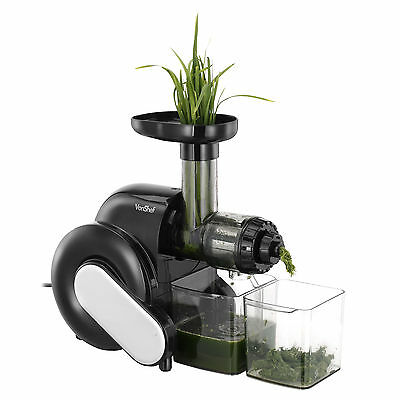VonShef Slow Juicer Horizontal Masticating Juice Extractor Wheatgrass Fruit