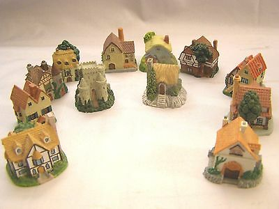 Decorative House Thimbles Assorted Display of 12 House Pieces
