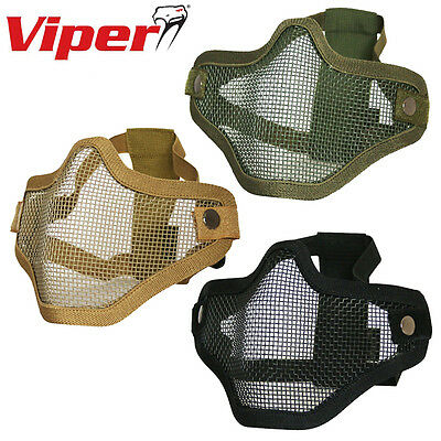 Viper Tactical Cross Steel Half Face Mask Airsoft Paintball Ventilated Protect