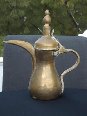 Antique Dallah Coffee Tea Pot Brass Copper Turkish Arab Islamic Ewer Kettle