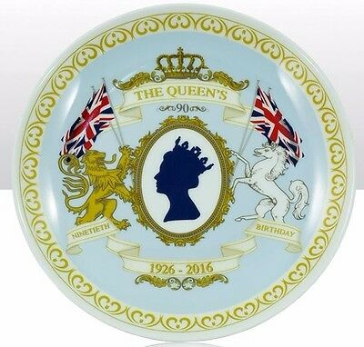 Queen Elizabeth 90th Birthday Commemorative China Plate & Stand CHOOSE YOUR SIZE