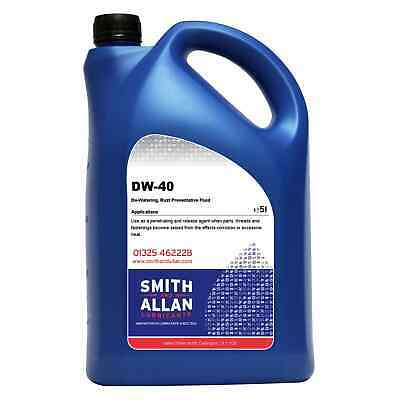 Penetrating Oil DW40 Spray Lubricant Protects Cleans Rust Inhibitor 5 Litre 5L
