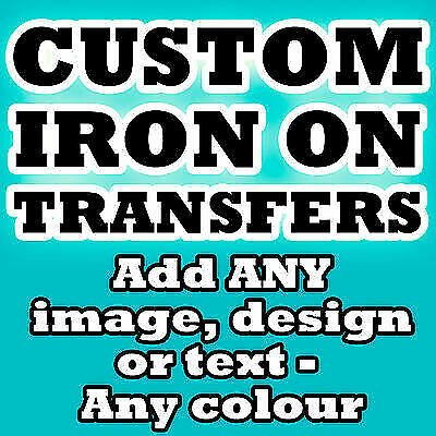 Personalised Iron Transfer T Shirt Tshirt With Image And Or Text Design