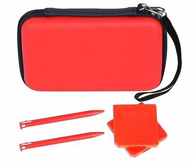 New Crown 5 in 1 Starter Kit Pack Case Cover Stylus Set for Nintendo 3DS - Red