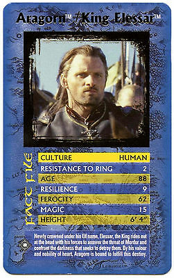 Aragorn/King Elessar - Lord Of The Rings Return Of King - Top Trumps Card (C133)