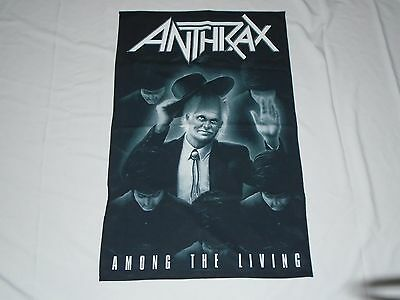 Anthrax Among The Living Textile Flag
