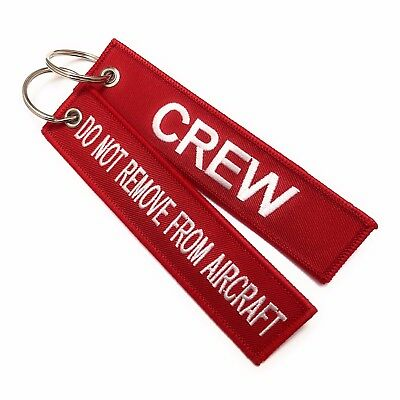 Crew Embroidered Tag / Do Not Remove From Aircraft / Cabin Crew / Pilot Tag