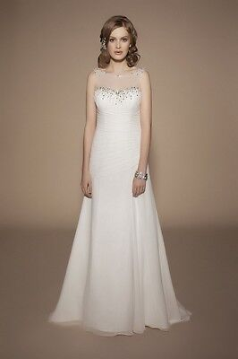 Benjamin Roberts Tia 5403 Wedding Dress UK12 Ivory Chiffon