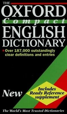The Oxford Compact English Dictionary Hardback Book The Cheap Fast Free Post