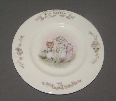 1986 Tom Kitten Beatrix Potter Decorative Cat Plate Royal Albert Bone China 8""