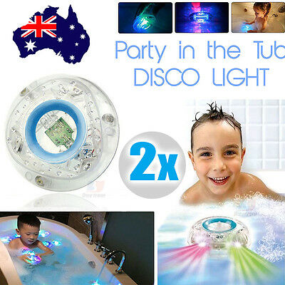 Make Bath Time  Color Changing Kids Bath Funny LED Light X2 Toy Party In The Tub
