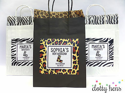 Hen Party Bag *filled*  Animal Personalised Gift Bags Favour Accessories Game