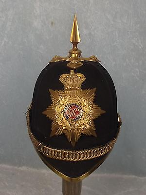 Victorian Gentleman Cadets Royal Military College Blue Cloth Helmet