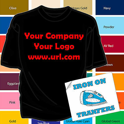 CUSTOM IRON ON TRANFERS FOR COMPANY LOGO OR BUSNIESS NAME FOR EMPLOYEES New t