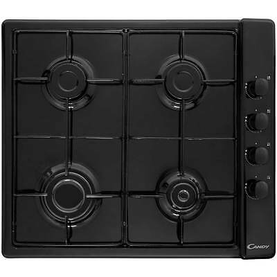 Candy CLG64SPN Plan Built In 58cm 4 Burners Gas Hob Black New from AO
