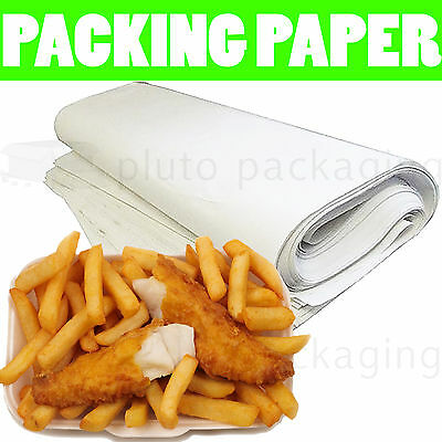 """50 Sheets Of PURE WHITE PACKING PAPER  - Newspaper Offcuts Chipshop - 20x29"""""""