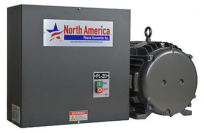 PL-20-T Pro-Line 20HP Rotary Phase Converter - TEFC Idler Motor by Baldor USA