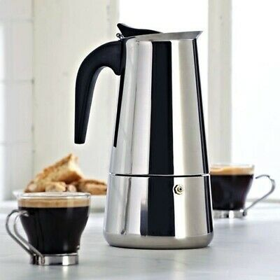 6 Cup Continental Espresso Coffee Maker Stainless Steel Moka Percolator Pot