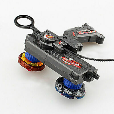 Black 4D Beyblade Set Metal Fusion Rapidity Fight Master Dual Launcher Toy Kit