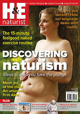 H&E naturist March 2016 magazine nudist health efficiency