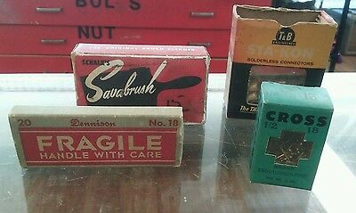 Vintage Hardware Brass Nails,Paint Brush Cleaner, Stickers,Solderless Connectors