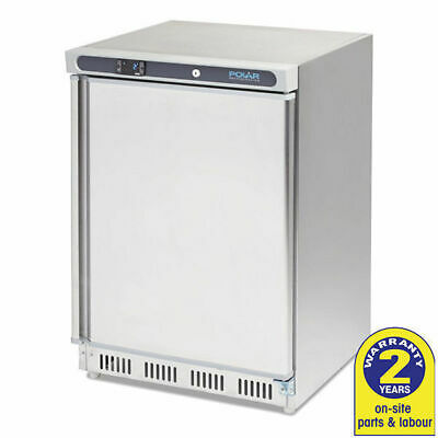 Bar Freezer Undercounter 1 Door 140L Stainless Steel Polar Commercial Restaurant