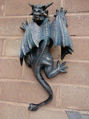 Gargoyle Gargouille Statue Home Patio Halloween Decor Gothic Statuary Sculpture