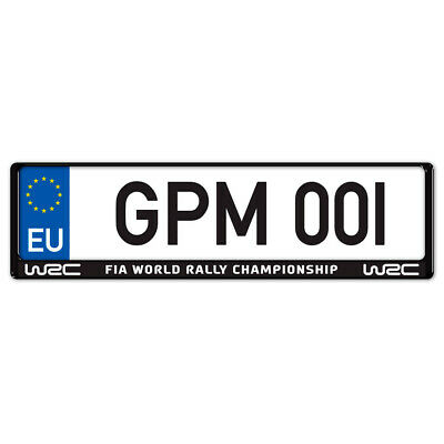 Auto-Style WRC Number Plate Surround WRC White on Black GPM475694