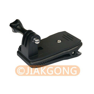 For Go pro Accessories 360 Degree Rotary Backpack Hat Clip Clamp Clips Mount