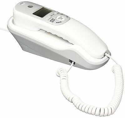 AT&T TR1909 Trimline Corded Phone with Caller ID, White Display Dial (BRAND NEW)
