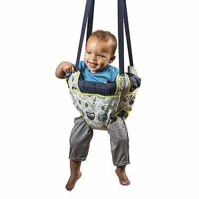 Evenflo Exersaucer Door Jumper,Owl (60411676) Adjustable straps, Portable (NEW)