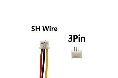 50Sets 3 Pin Single End SH 1.25mm 15cm 28AWG Wire To Board Connector