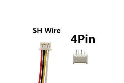 50Sets Single End 4Pin Pitch 1.25mm SH Wire To Board Connectors 15cm 28AWG
