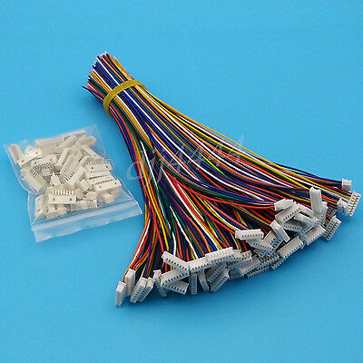 50Sets Single End 8Pin Pitch 1.25mm SH Wire To Board Connectors 15cm 28AWG