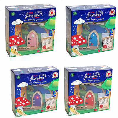 Irish Fairy Magical Wooden Arched Fairy Door & Key Box Set Brand New Gift