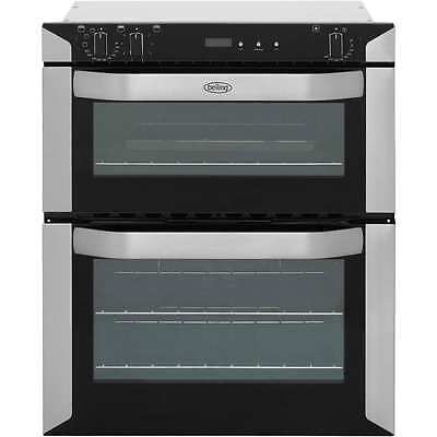 Belling BI70FP Built Under 60cm Double Cavity Electric Double Oven Stainless