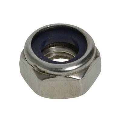Qty 100 Hex Nyloc Nut M5 (5mm) Marine Grade Stainless Steel SS 316 A4 70 Lock