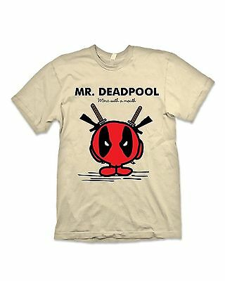 Mr Deadpool T Shirt Mr Men Marvel Comics Short Sleeve Tee