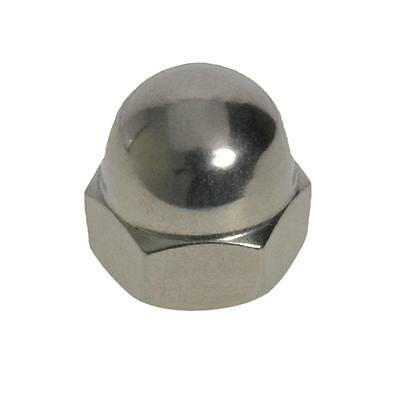 Qty 10 Dome Nut M8 (8mm) Stainless Steel 1 Piece Acorn 304 A2 70 SS
