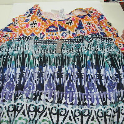 Womens Multi-Colored CHICOS LOT 2 Shirt Top Blouse Tunic Knit T-Shirt Size 3